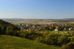 Small village in the countryside. A small hungarian village in the countryside Royalty Free Stock Image