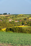 Small village on countryside in Poland Stock Image