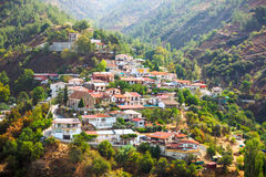 Small village in cyprus mountain. Royalty Free Stock Photo