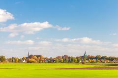 Small village in the Dutch province of Gelderland Royalty Free Stock Photo