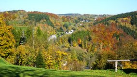 The Erzgebirge in autumn stock photography