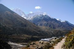 Small village in the Everest region Royalty Free Stock Photo