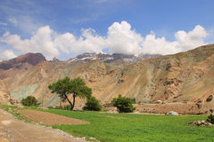 The small village in Fann Mountains, Tajikistan Royalty Free Stock Photo
