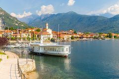 View of little village of Feriolo, on Lake Maggiore, in Piedmont stock photos