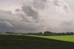 The Small Village of Fields Royalty Free Stock Photography