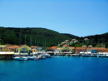 Kefalonia port Royalty Free Stock Photo