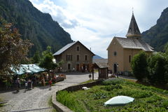 Small village in the French Alps Royalty Free Stock Photography