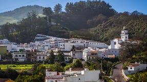 Small village. In gran canaria island under a blue sky day Stock Photo