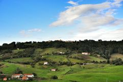 A small village in the green hills. Spain. Royalty Free Stock Photography