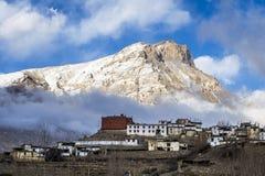 Small village in Himalaya mountains Stock Photo