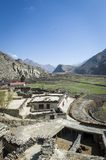 Small village in Himalaya mountains Royalty Free Stock Photos