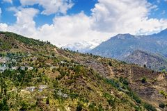 Small village in the Himalayas of India Stock Photography