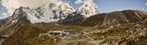 Small village in the Himalayas in Nepal Royalty Free Stock Photos