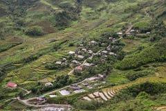 Small village at Hoang Lien Son National Park in Sapa, Vietnam Royalty Free Stock Image