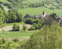 Small village in Hohenlohe. High angle view of a idyllic small village in Hohenlohe (Southern Germany Royalty Free Stock Images