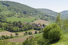 Small village in Hohenlohe. High angle view of a idyllic small village in Hohenlohe (Southern Germany Stock Image