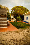 Small village house of straw, Portugal Stock Photo