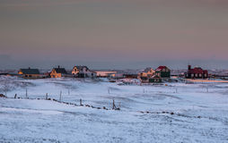 Small village in Iceland Royalty Free Stock Photography