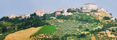 Small village iin Chieti province named Bucchianico Stock Image