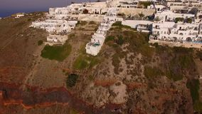 The small village Imerovigli on Santorini Island stock footage