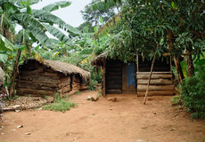 Small village on a island in the Lake Victoria Stock Image
