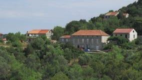 Small village on island Mljet stock footage