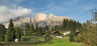 small village in the Italian Dolomites Royalty Free Stock Image