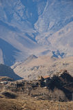Small village of Jharkot Royalty Free Stock Images