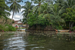 A small village in the Jungle near the river. Stock Photos