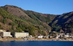 A small village in Kawaguchi, Japan.  royalty free stock photos