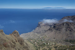 Small village on La Gomera island, Spain Stock Images