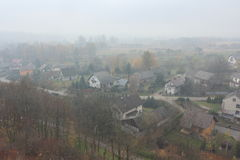 Small village landscape Stock Image