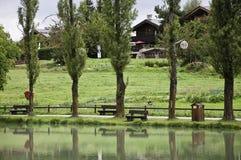The small village of Le Praz Royalty Free Stock Photos
