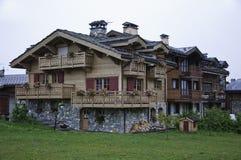 The small village of Le Praz Stock Photo