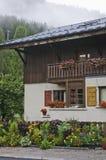 The small village of Le Praz Stock Image