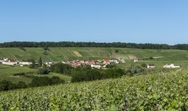 Leuvrigny Champagne. The small village of Leuvrigny in Champagne near Epernay with vineyards Royalty Free Stock Photography