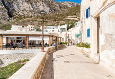 Small village on Levanzo island, Trapani, Italy Stock Image