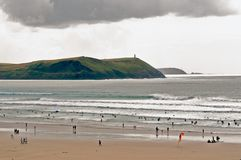 Polzeath 12. A small village located in Cornwall uk Royalty Free Stock Photography