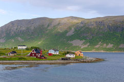 Small village on Lofoten islands, Norway. Small fishing village on Lofoten islands, Norway Royalty Free Stock Image