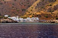 Small village at the Lybian sea Stock Photos