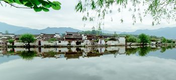 A small village in Mount Huangshan, China, is called Hongcun, just like the beauty of landscape painting. Acer village, also known as Hong Cun, Yixian County royalty free stock photography