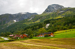Small village in mountains Stock Image