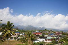 Small village in mountains Royalty Free Stock Image