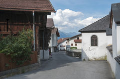 Small village in the mountains in austria Royalty Free Stock Photos