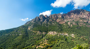 Small village in the mountains, Corsica. Small village in mountains, Corsica stock photography