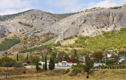 A small village in the mountains of South-Eastern Crimea. Russia royalty free stock photography