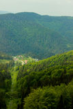 Small village in the mountains in the summer Royalty Free Stock Images