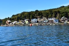 Small village near Puerto Montt royalty free stock photography