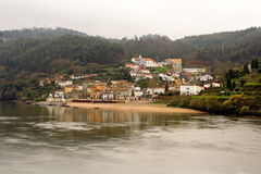 Small village near the river Royalty Free Stock Photography