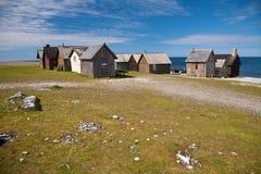 Small village near the sea Royalty Free Stock Image